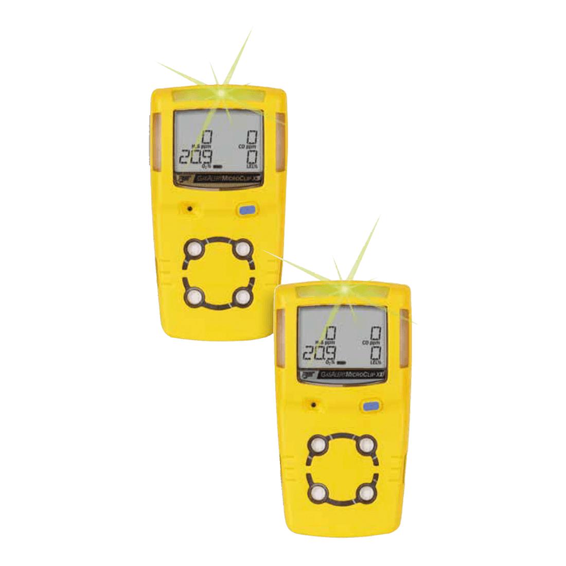 G ALERT MICROCLIP XL 4 GAS LEL/O2/H2S/CO